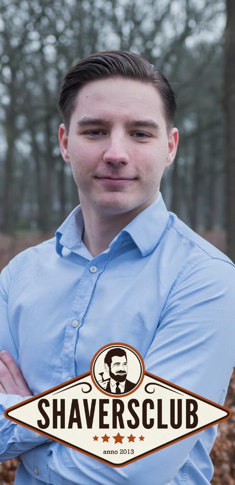 Eigenaar Shaversclub Marco Koers. Student minor Digital marketing.